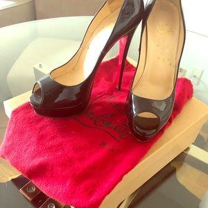 Christian Louboutin LADY PEEP 150 patent leather